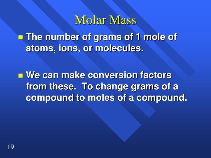Molar Mass