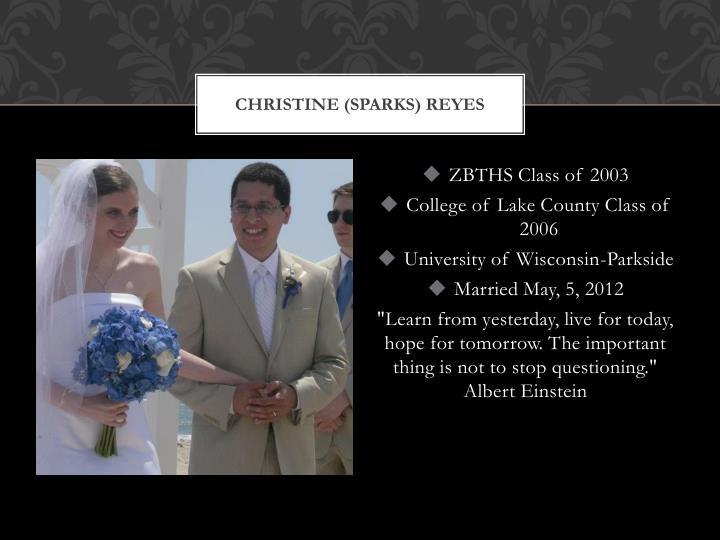 Christine (Sparks)