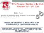 stm numeracy problem of the week november 21 st 27 th 2013
