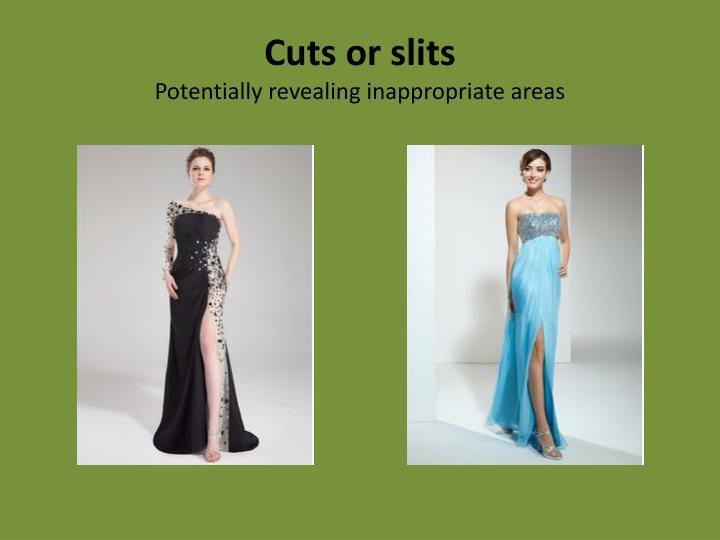 Cuts or slits