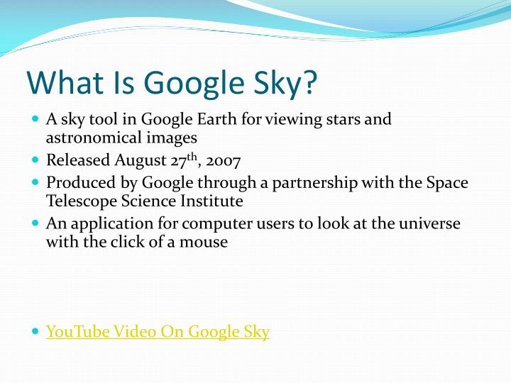 What Is Google Sky?