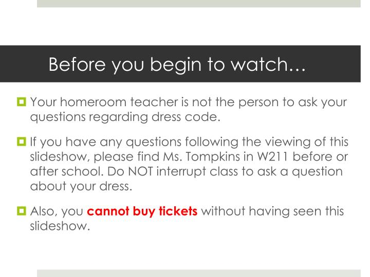 Before you begin to watch…