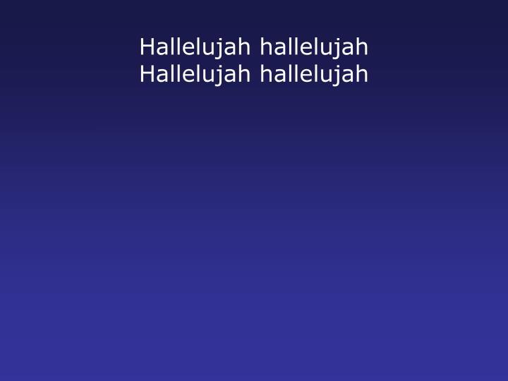 Hallelujah
