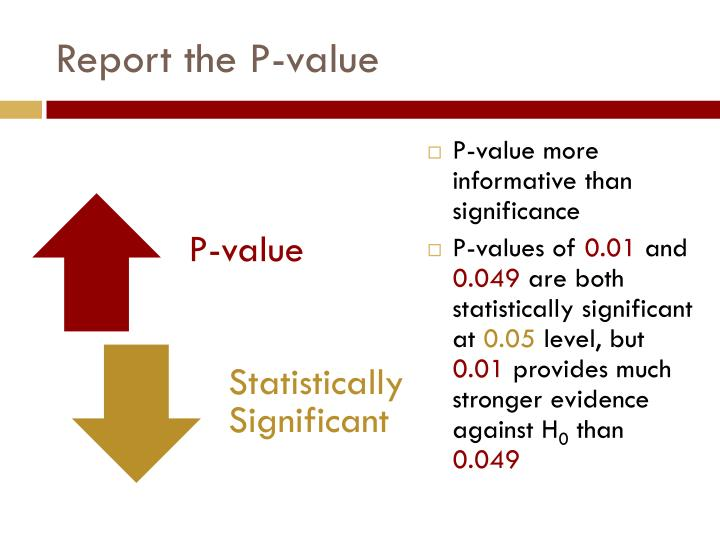 Report the P-value