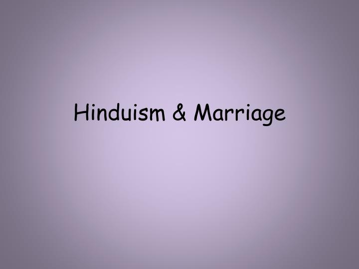 hinduism marriage