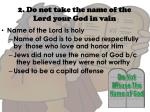 2 do not take the name of the lord your god in vain