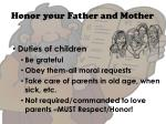 honor your father and mother1