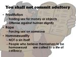 you shall not commit adultery4