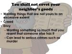 you shall not covet your neighbor s goods