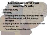 you shall not covet your neighbor s wife