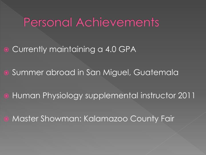 Personal Achievements