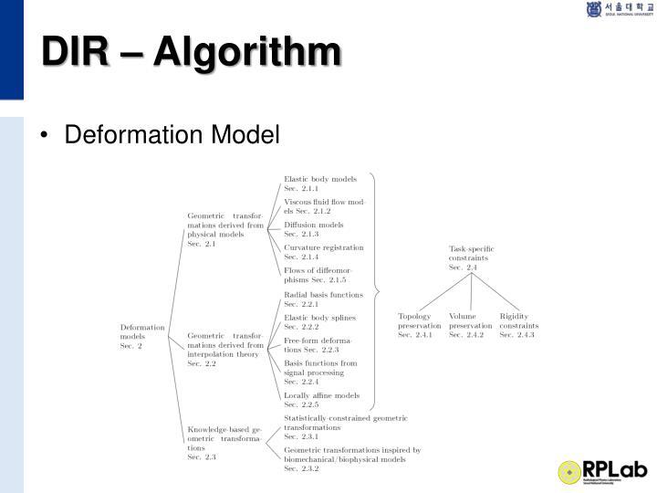 DIR – Algorithm