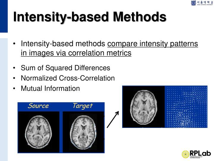 Intensity-based Methods
