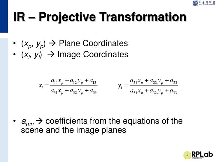 IR – Projective