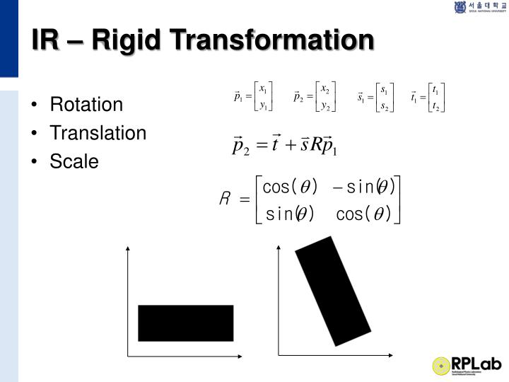 IR – Rigid Transformation