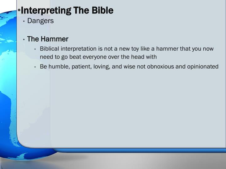 Interpreting The Bible
