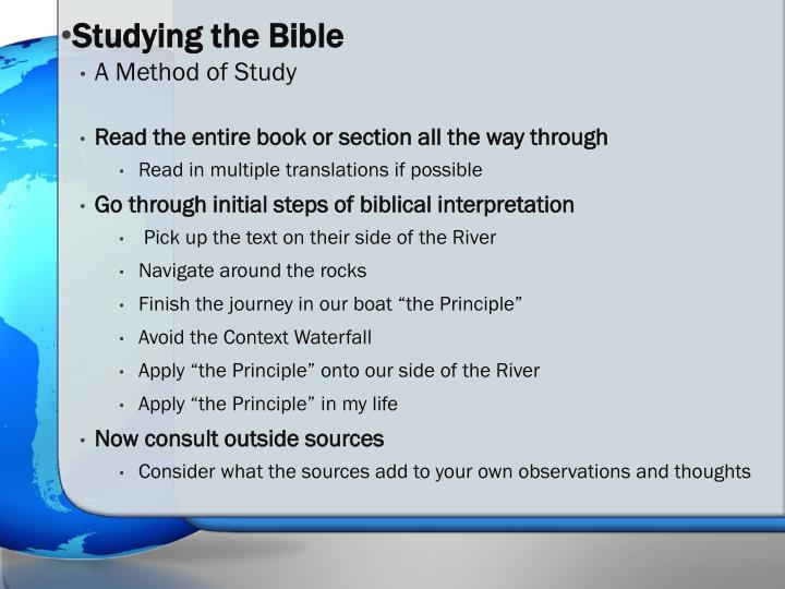 Studying the Bible