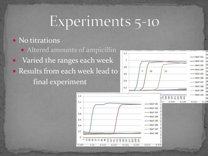 Experiments 5-10