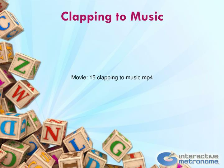 Clapping to Music