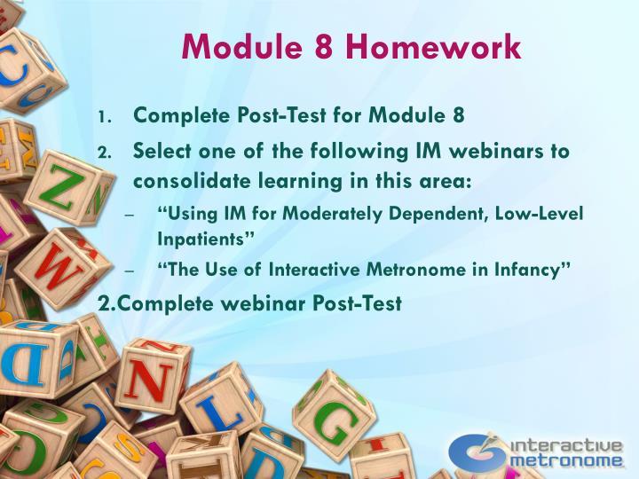 Module 8 Homework