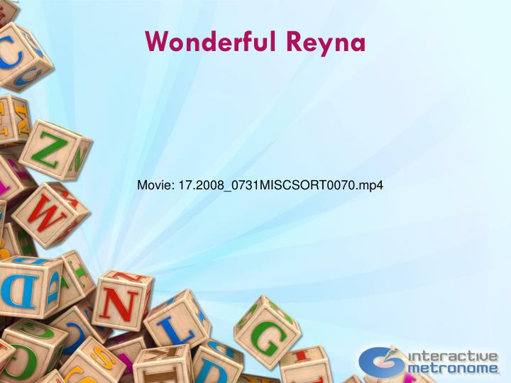 Wonderful Reyna