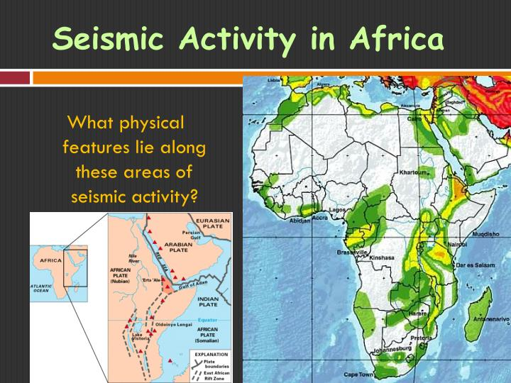 Seismic Activity in Africa