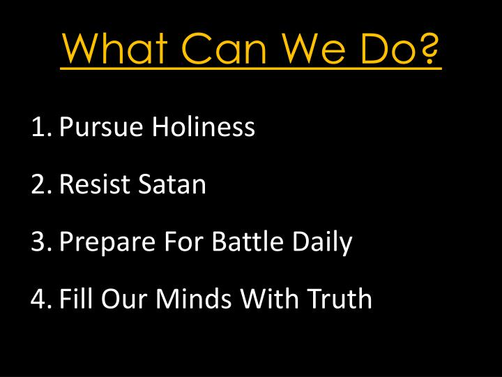 Pursue Holiness