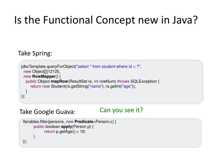 Is the Functional Concept new in Java?