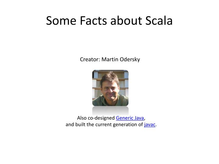 Some facts about scala1