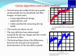 canny algorithm and cullen method