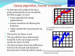 canny algorithm fourier transform