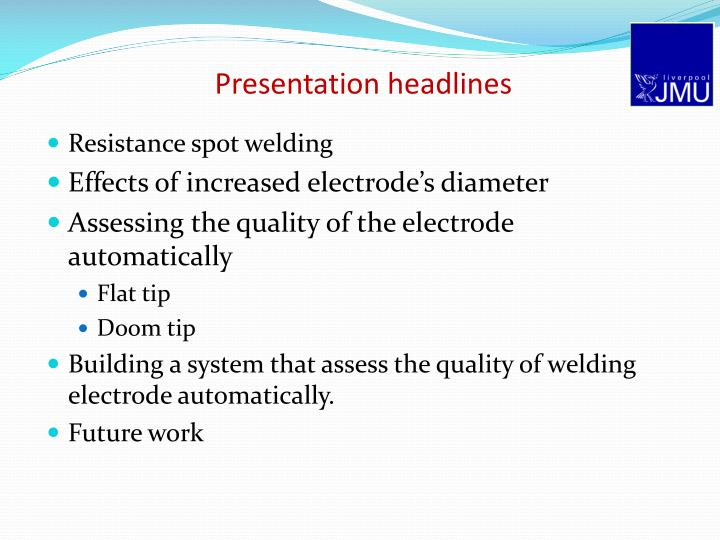 Presentation headlines