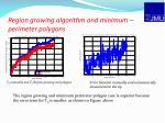 region growing algorithm and minimum perimeter polygons