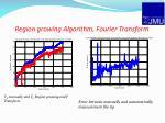 region growing algorithm fourier transform