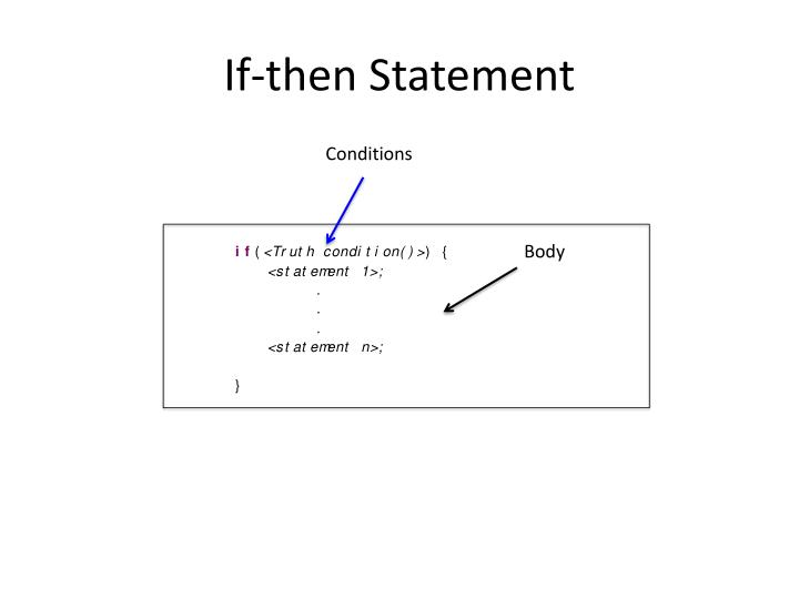 If-then Statement