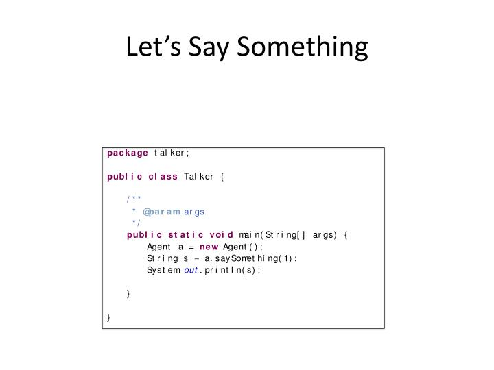 Let's Say Something