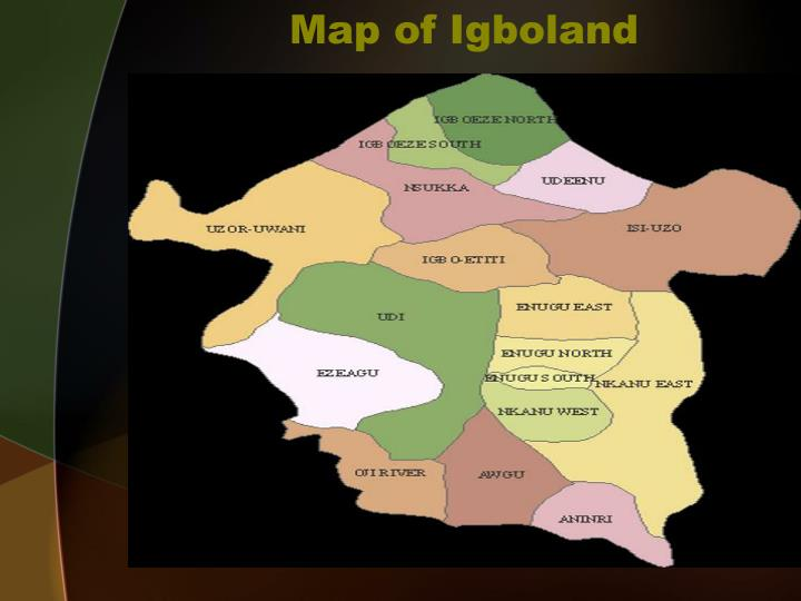 Map of Igboland