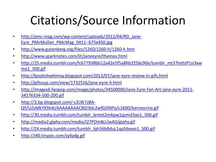 Citations/Source Information
