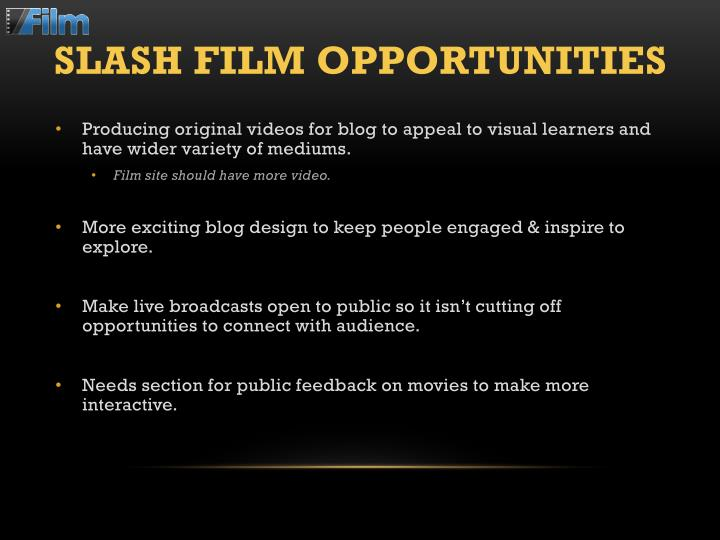 Slash Film Opportunities