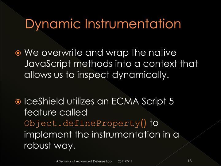 Dynamic Instrumentation
