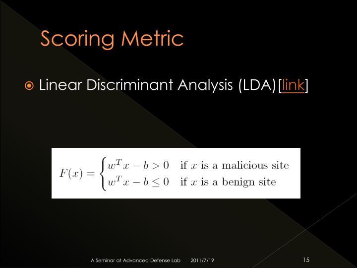 Scoring Metric
