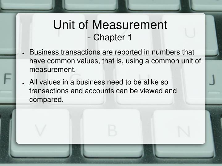 Unit of Measurement