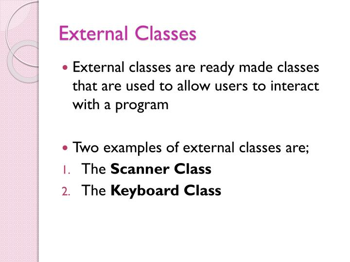 External classes