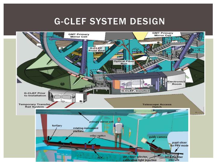 G-CLEF System Design
