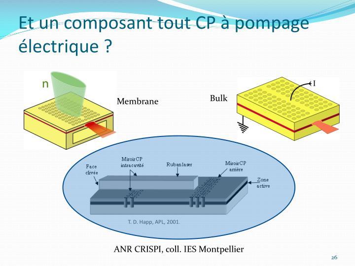 Et un composant tout CP à pompage électrique ?