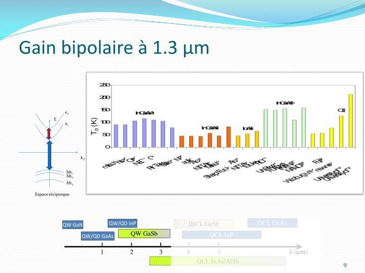 Gain bipolaire à 1.3 µm