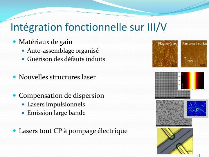 Intégration fonctionnelle sur III/V