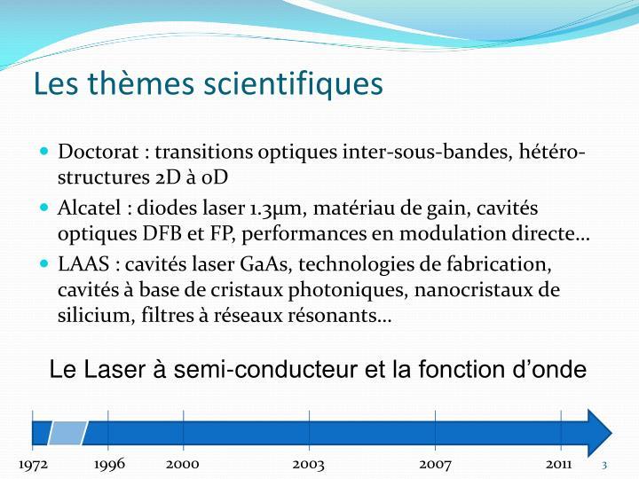 Les thèmes scientifiques