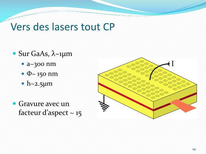 Vers des lasers tout CP
