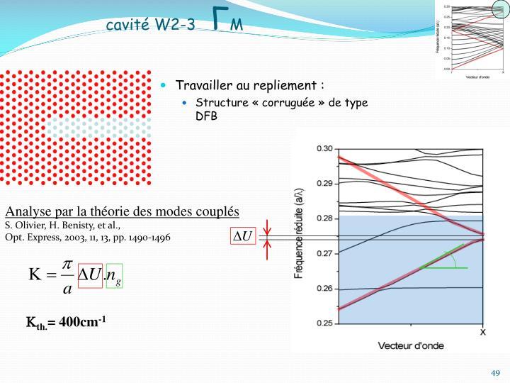 Analyse par la théorie des modes couplés